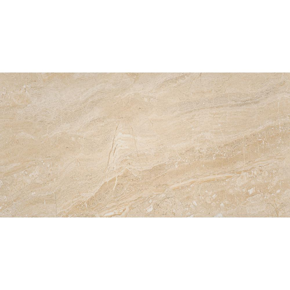 Msi Aria Oro 12 In X 24 In Polished Porcelain Floor And