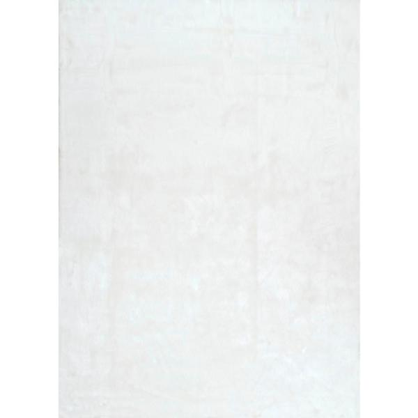 Cloud Faux Sheepskin Plush Shag Ivory 5 ft. x 7 ft.  Area Rug
