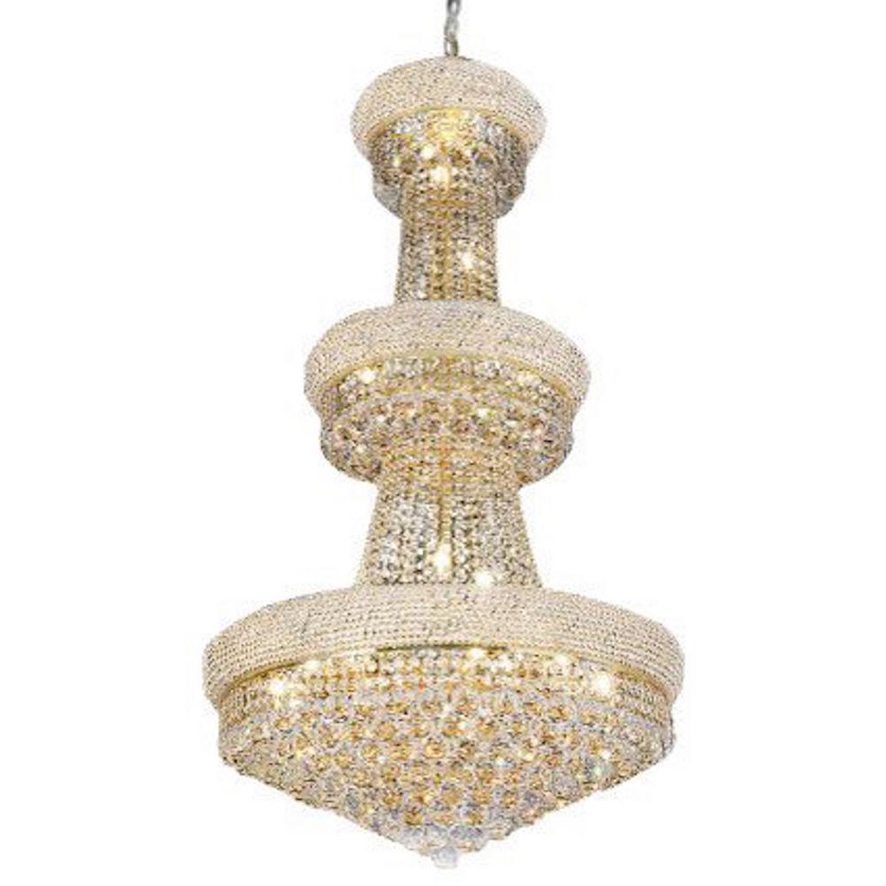 Empress 24-Light Gold Crystal Chandelier
