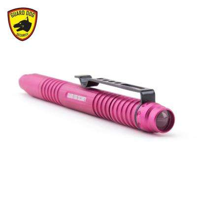 Type III Aluminum body with Tungsten Steel Pressure Tip and 30-Lumen Tactical Flashlight, Pink