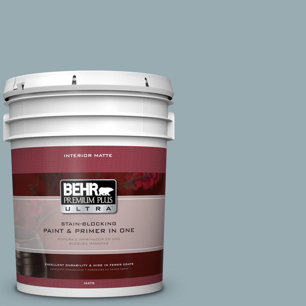 BEHR Premium Plus Ultra 5 gal. #BXC-28 Bucolic Blue Matte Interior Paint
