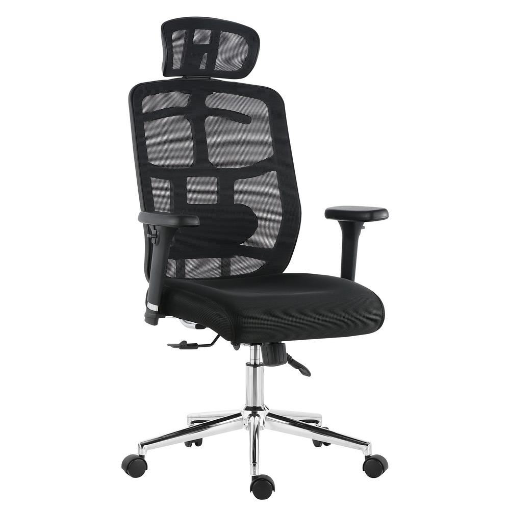 Poly and Bark Simmons Black Office Chair in Mesh