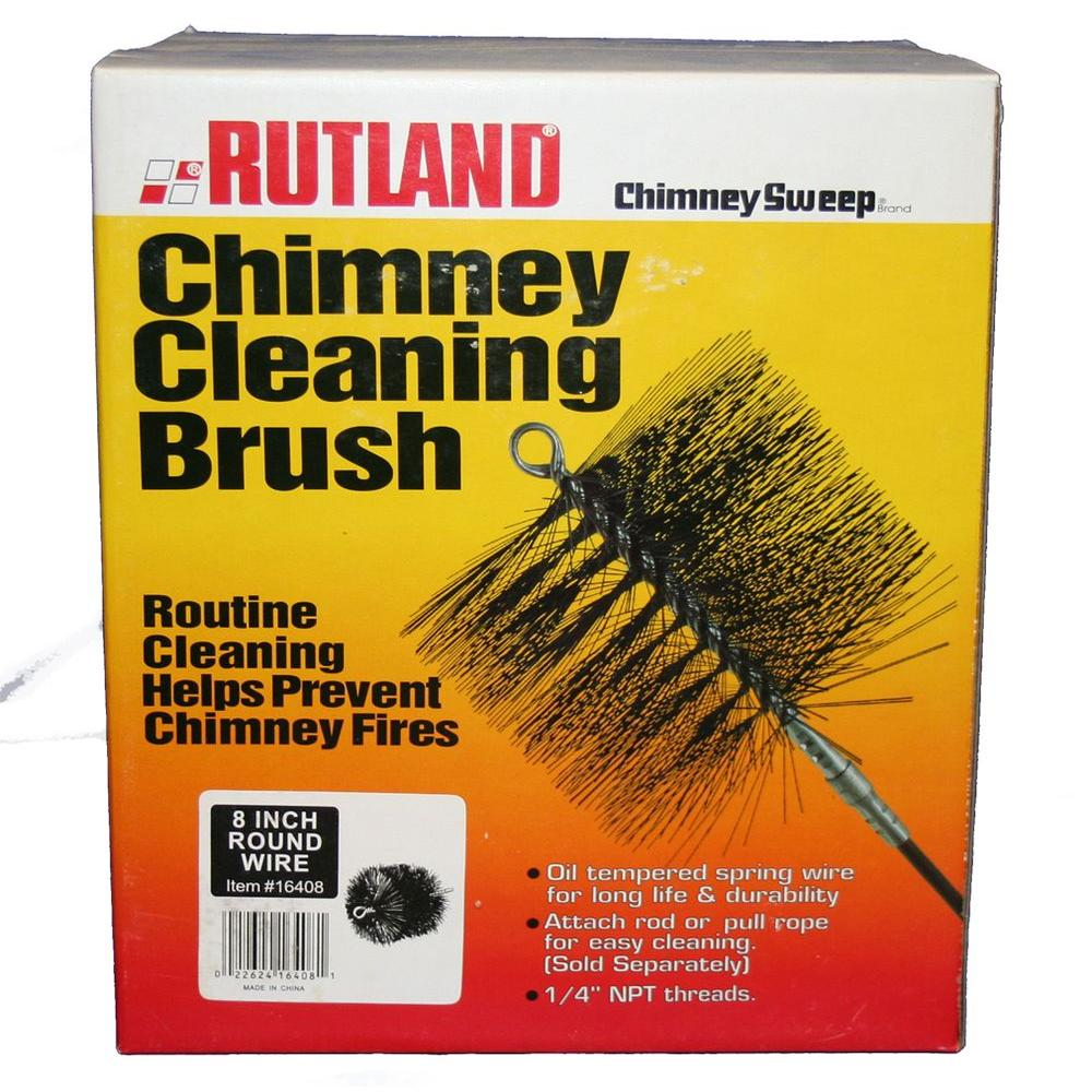 Rutland 8 in. Chimney Sweep Round Wire Chimney Cleaning Brush