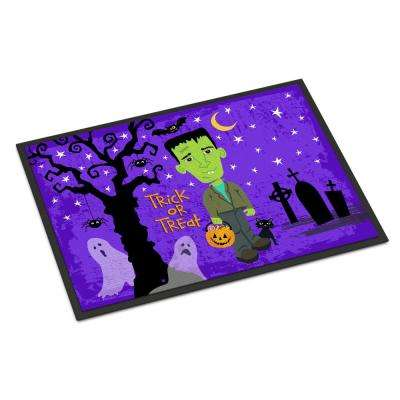 18 in. x 27 in. Indoor/Outdoor Halloween Frankie Frankenstein Door Mat