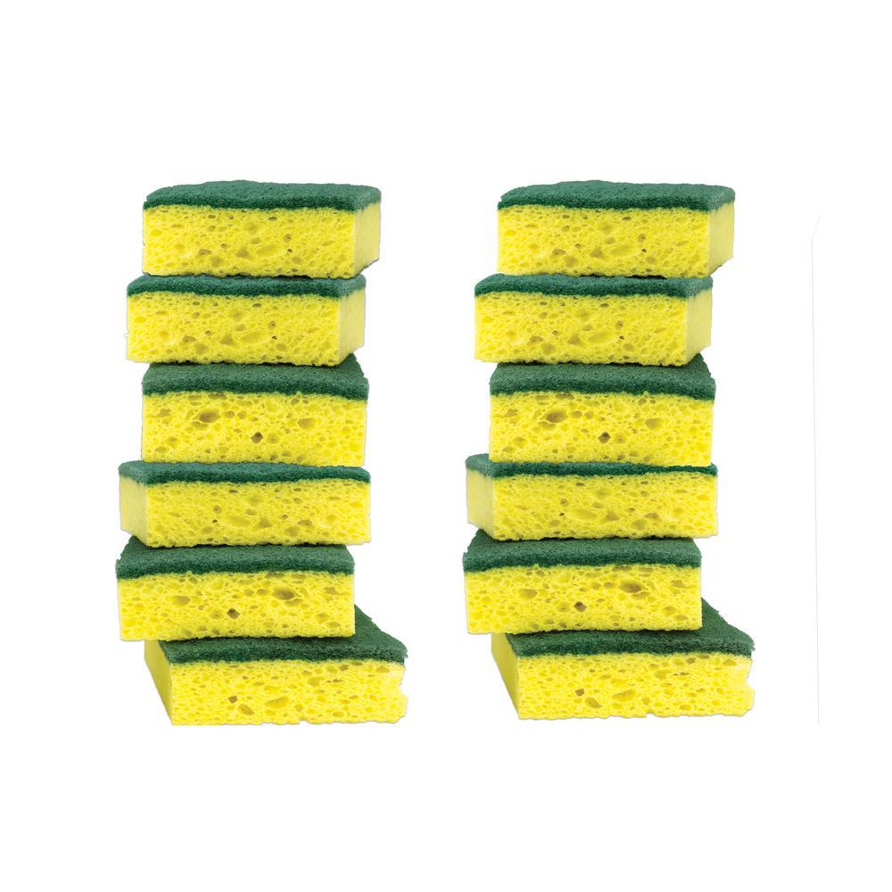 Scotch-Brite 2.7 in. x 4.5 in. Heavy Duty Scrub Sponge (12-Pack)