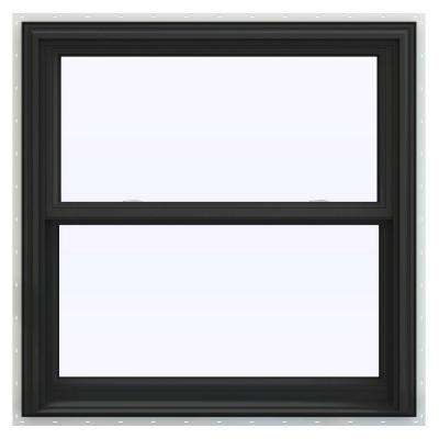 36 in. x 36 in. V-2500 Series Bronze FiniShield Vinyl Double Hung Window with BetterVue Mesh Screen