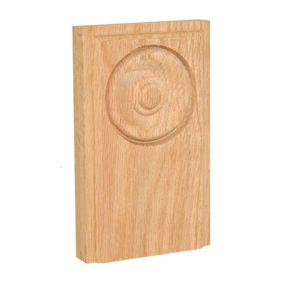 3/4 in. x 3-3/8 in. x 5-1/2 in. Oak Plinth Block
