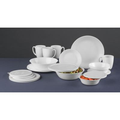 Classic 24-Piece Winter Frost White Dinnerware Set