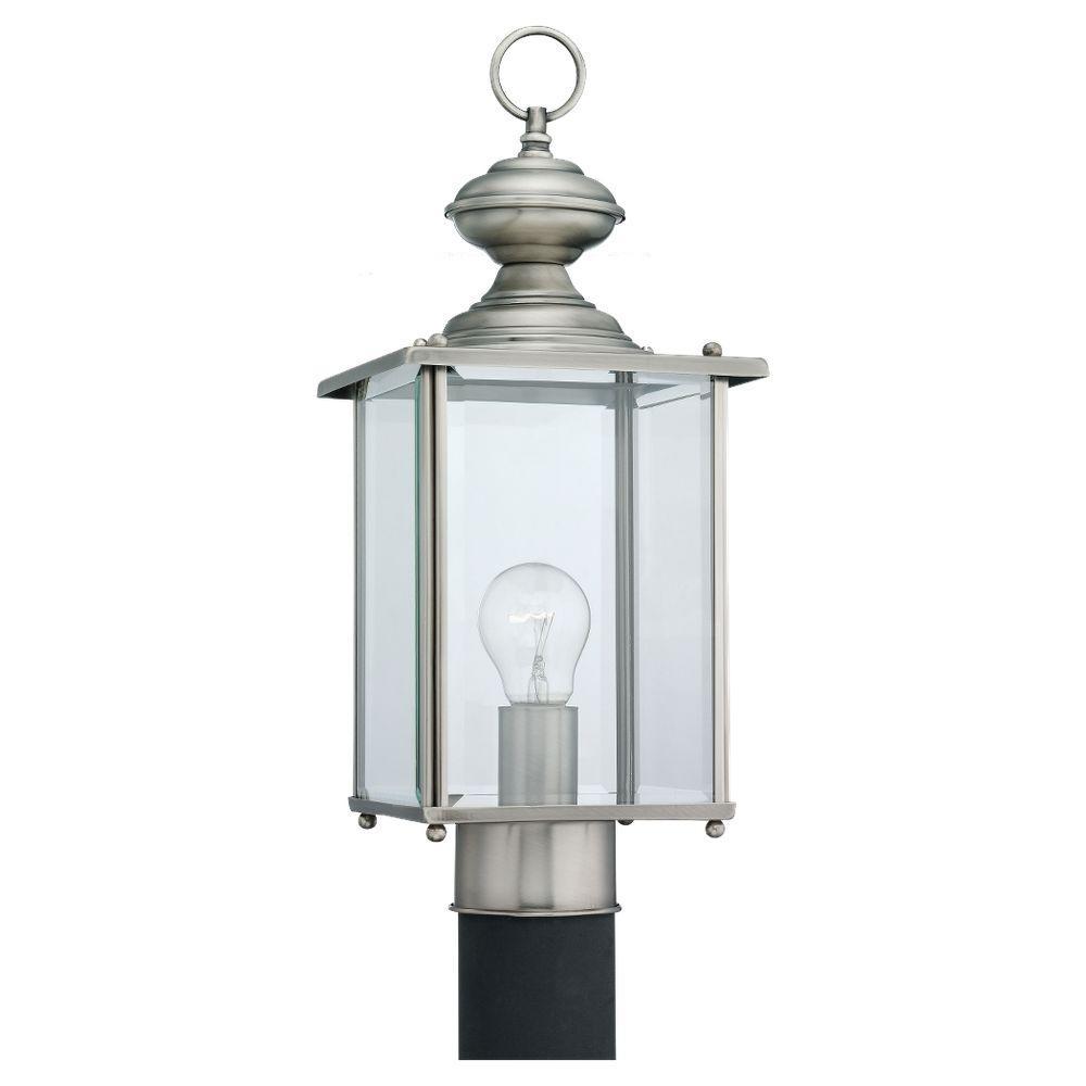 Jamestowne 1-Light Antique Brushed Nickel Outdoor Post Top