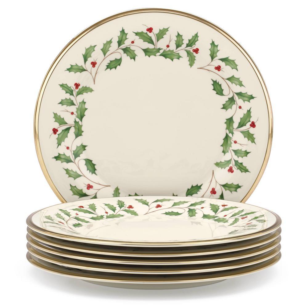 Holiday Bone China Dinner Plate (Set of 6)