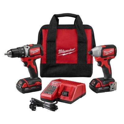 M18 18-Volt Lithium-Ion Cordless Compact Brushless Drill/Impact Combo Kit (2-Tool)