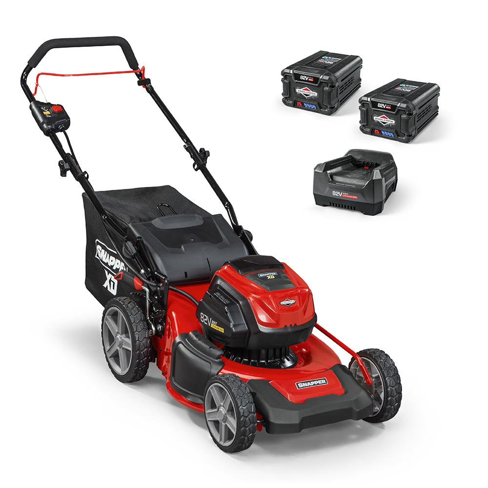 Snapper XD 19 in  82-Volt Lithium-Ion Electric Cordless Walk Behind Push  Mower - Two 2 0 Ah Batteries/Charger Included