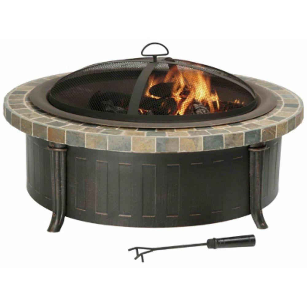 null Savannah Slate Top Fire Pit-DISCONTINUED