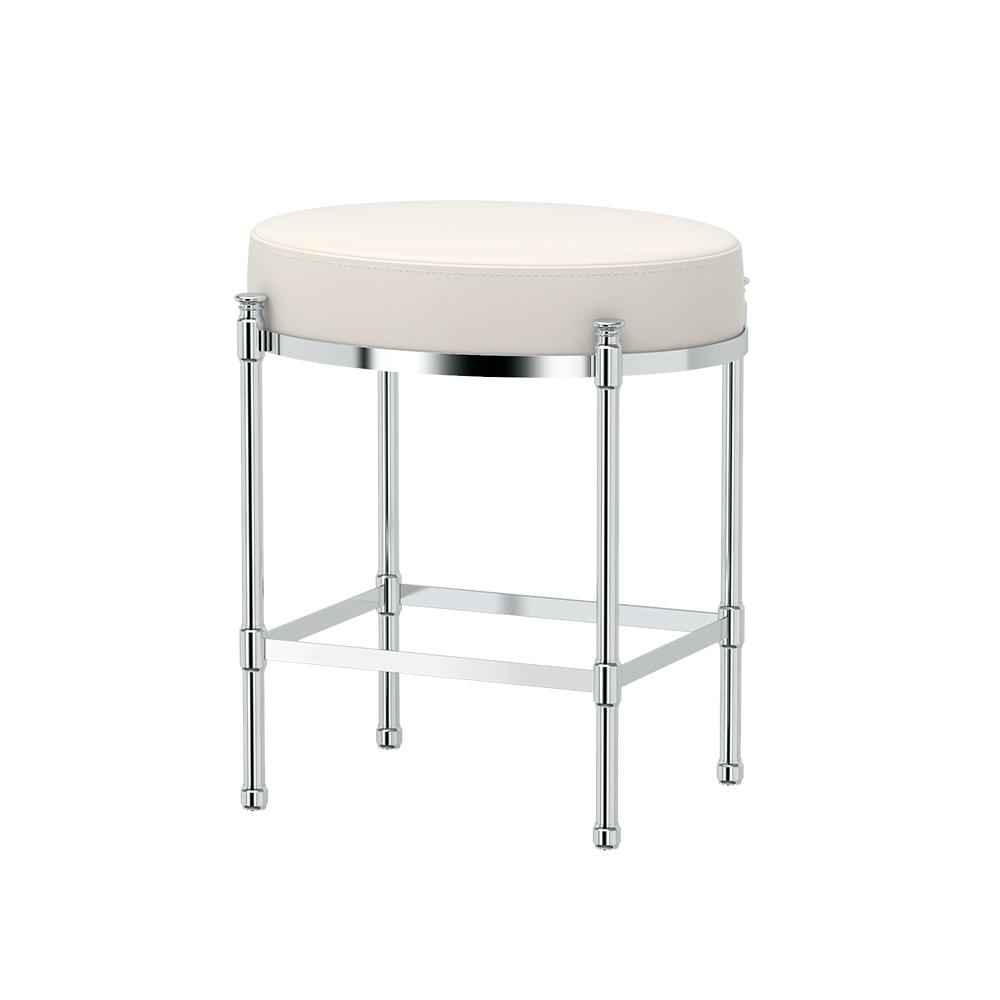 Vanity Stools For Bathroom: Gatco Oval 19.5 In. Vanity Stool In Chrome-1358