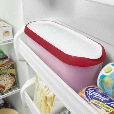 1.5 qt. Cayenne Glide-A-Scoop Ice Cream Tub, Insulated, Airtight Reusable Freezer Container With Non-Slip Base