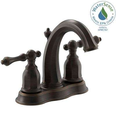 Kelston 4 in. 2-Handle Low-Arc Water-Saving Bathroom Faucet in Oil-Rubbed Bronze
