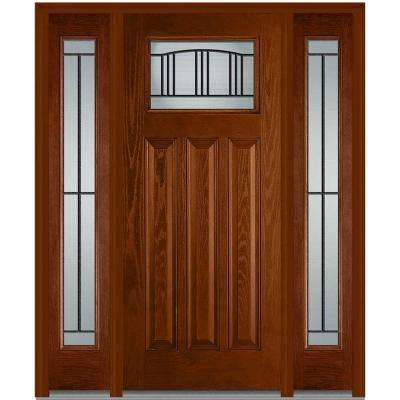 Front doors exterior doors the home depot madison right hand decorative craftsman 1 lite stained planetlyrics Images