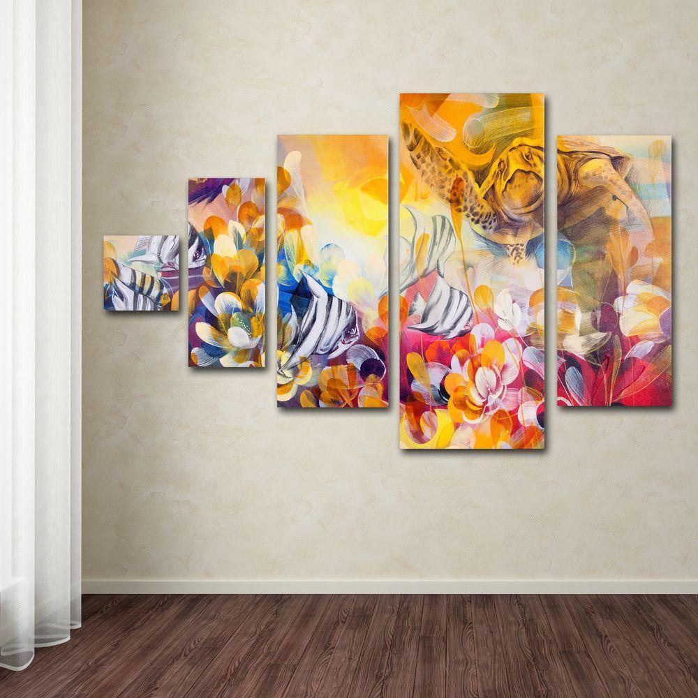 Key Largo by Palacios 5-Panel Wall Art Set