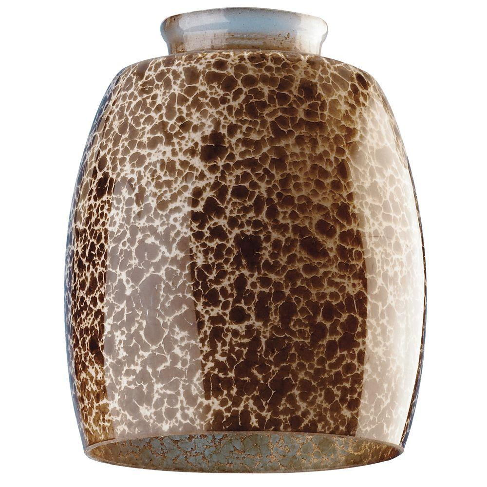 Westinghouse 5-3/8 in. Handblown Giraffe Spot Shade with 2-1/4 in. Fitter and 4-1/2 in. Width