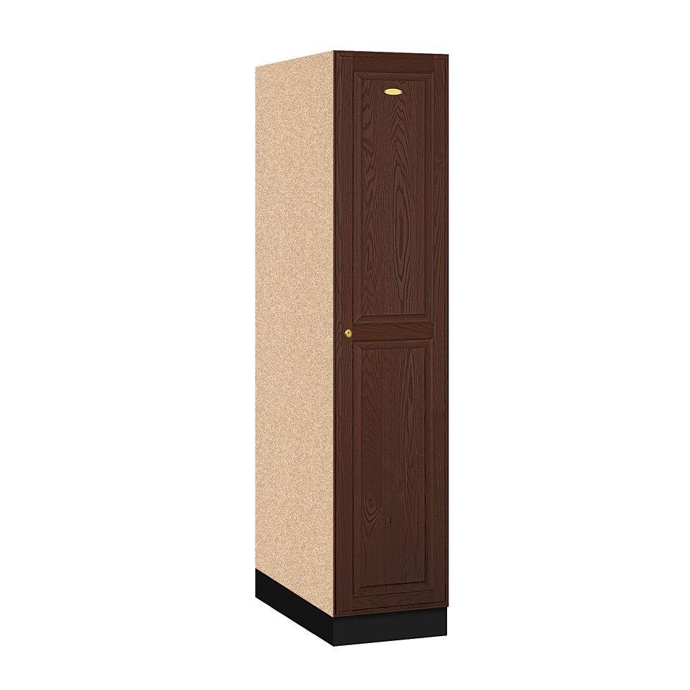 11000 Series 1-Tier Solid Oak Executive Wood Locker in Dark Oak