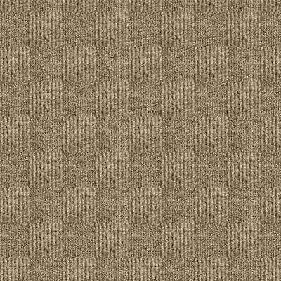 Sophisticated Taupe Pattern 18 in. x 18 in. Carpet Tile (16 Tiles/Case)