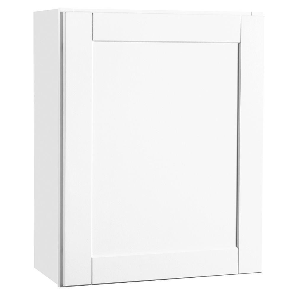 Hampton bay shaker assembled 24x30x12 in wall kitchen for Hampton bay white kitchen cabinets