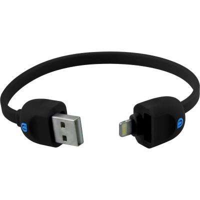 Lock and Go Lightning Sync Charge Cable Bracelet - Black