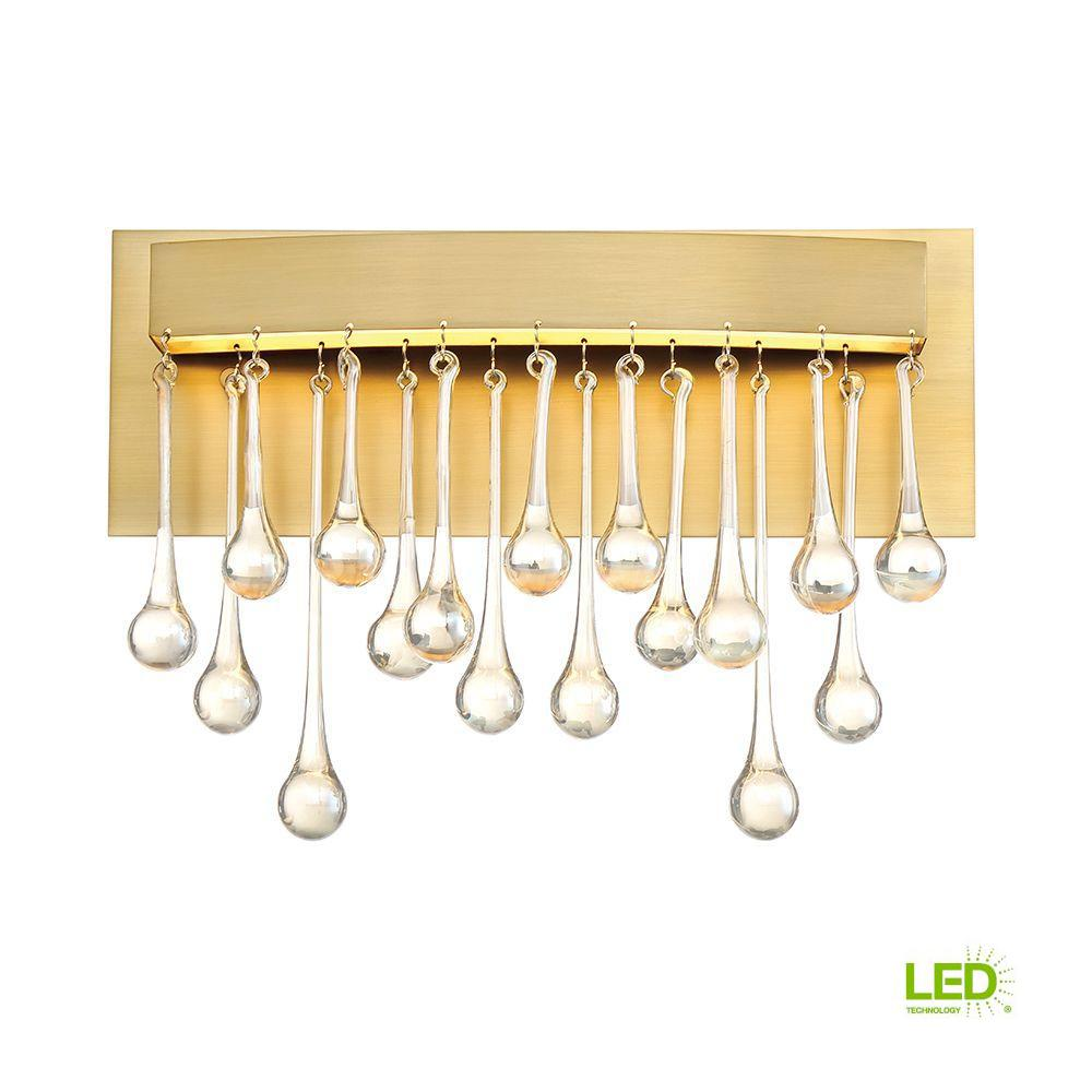 Designers Fountain Lucienne Luxor Gold Interior LED Bath Vanity Light