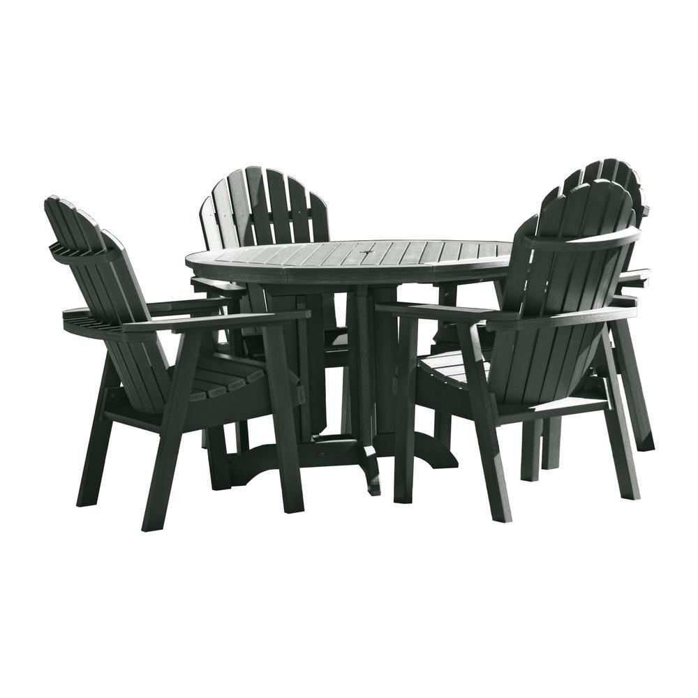 Hamilton Charleston Green 5-Piece Recycled Plastic Round Outdoor Dining Set