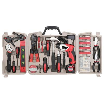Home Tool Kit with 3.6-Volt Li-Ion Cordless Screwdriver,(161-Pieces)