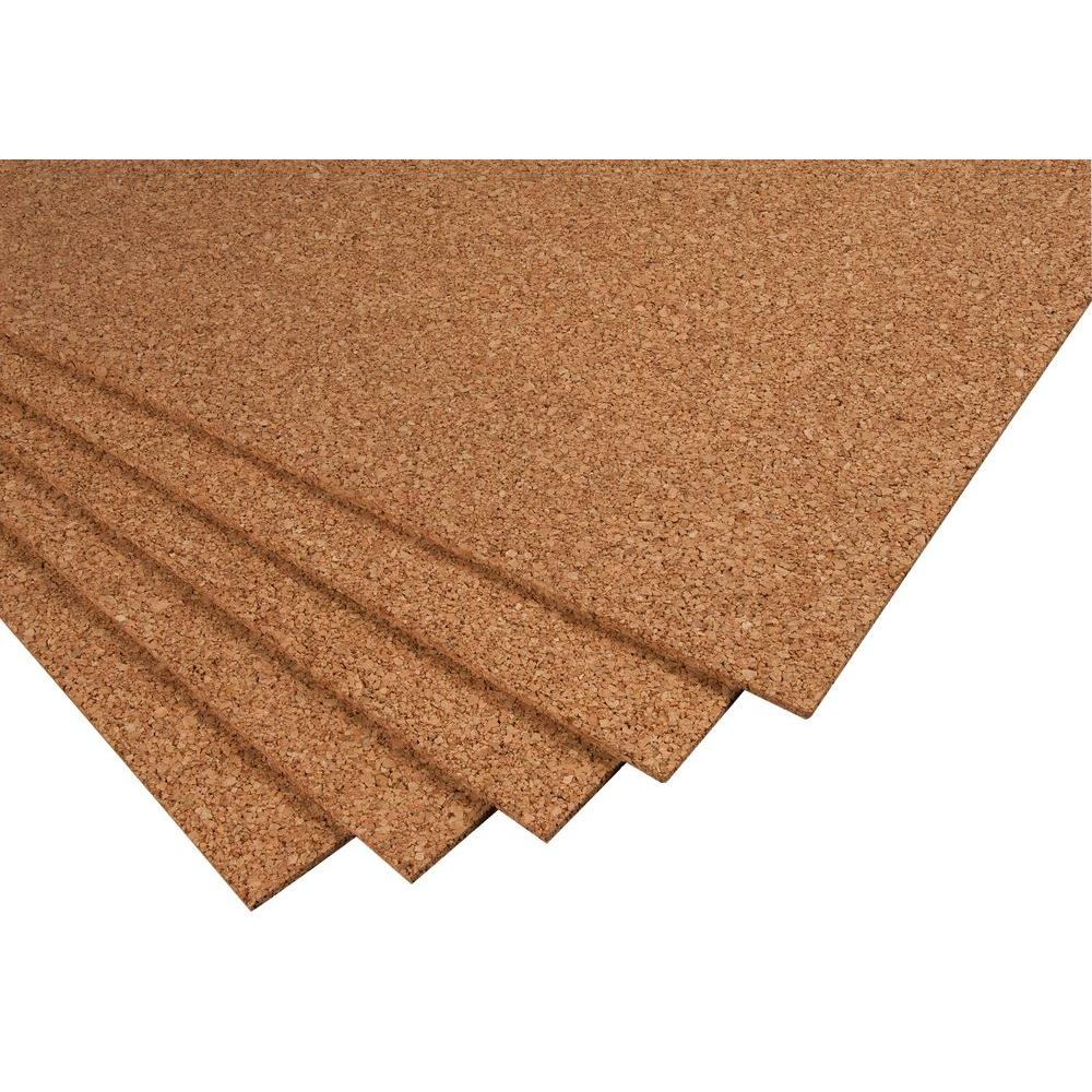 Qep 2 Ft X 3 Ft X 14 In Cork Underlayment Sheet 30 Sq Ft 5