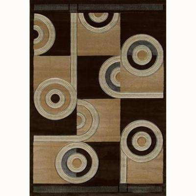 Spiral Canvas Chocolate 5 ft. 3 in. x 7 ft. 6 in. Contemporary Area Rug