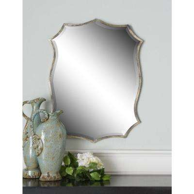 30 in. x 23 in. Nickel Framed Mirror