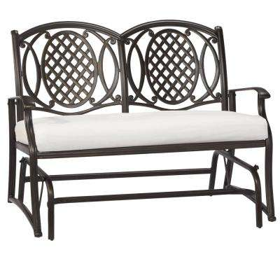 Belcourt Custom Metal Outdoor Glider with Cushions Included, Choose Your Own Color