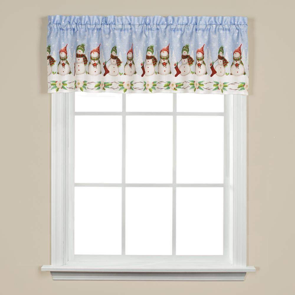Saturday Knight Winter Wonderland 13 in. L Valance in White