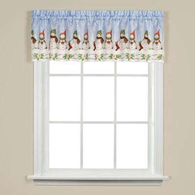 Winter Wonderland 13 in. L Valance in White