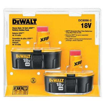 18-Volt XRP Ni-Cd Rechargeable Batteries with Security Strap for DEWALT 18-Volt Power Tools (2-Pack)