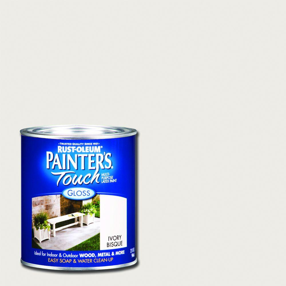 Rust-Oleum Painter's Touch 32 oz. Ultra Cover Gloss Ivory Bisque General Purpose Paint (Case of 2)