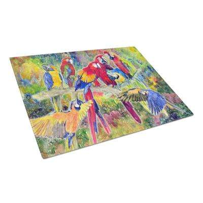 Parrot Tempered Glass Large Cutting Board