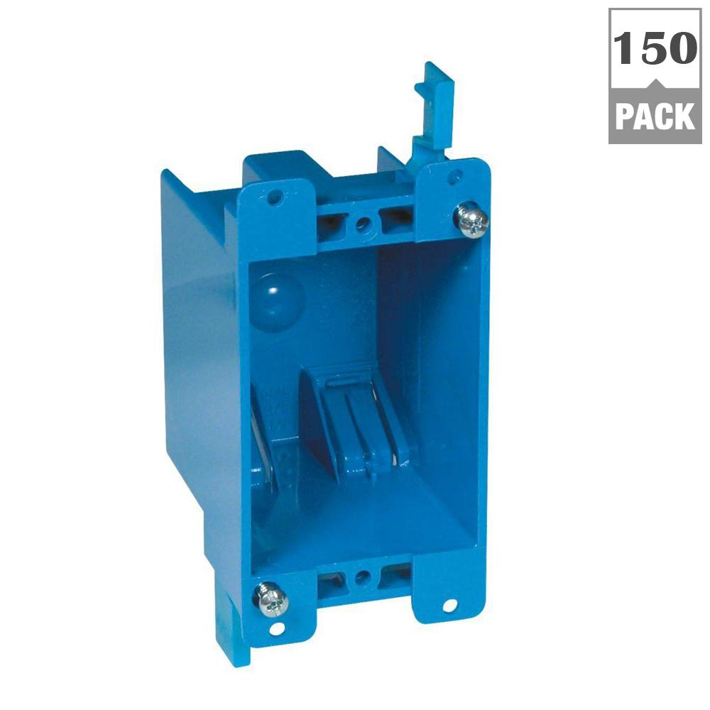 Carlon 1-Gang 14 cu. in. Old Work PVC Electrical Box (Case of 150)