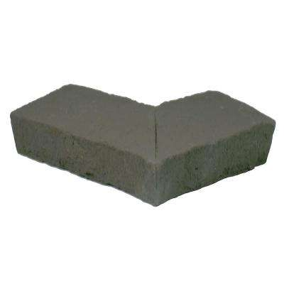 Sandstone 6.25 in. x 4.25 in. Gray Faux Stone Ledger Outside Corner (2-Pack)