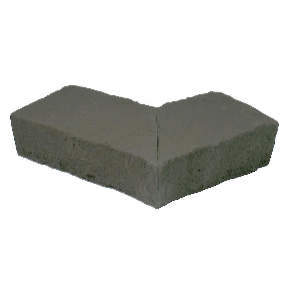 Sandstone Gray 6.25 in. x 4.25 in. Faux Stone Ledger Outside Corner (2-Pack)