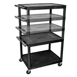 Luxor Endura Multi Height 32 inch A/V Cart in Black by Luxor