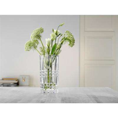 Square 9 in. Crystal Decorative Vase in Clear