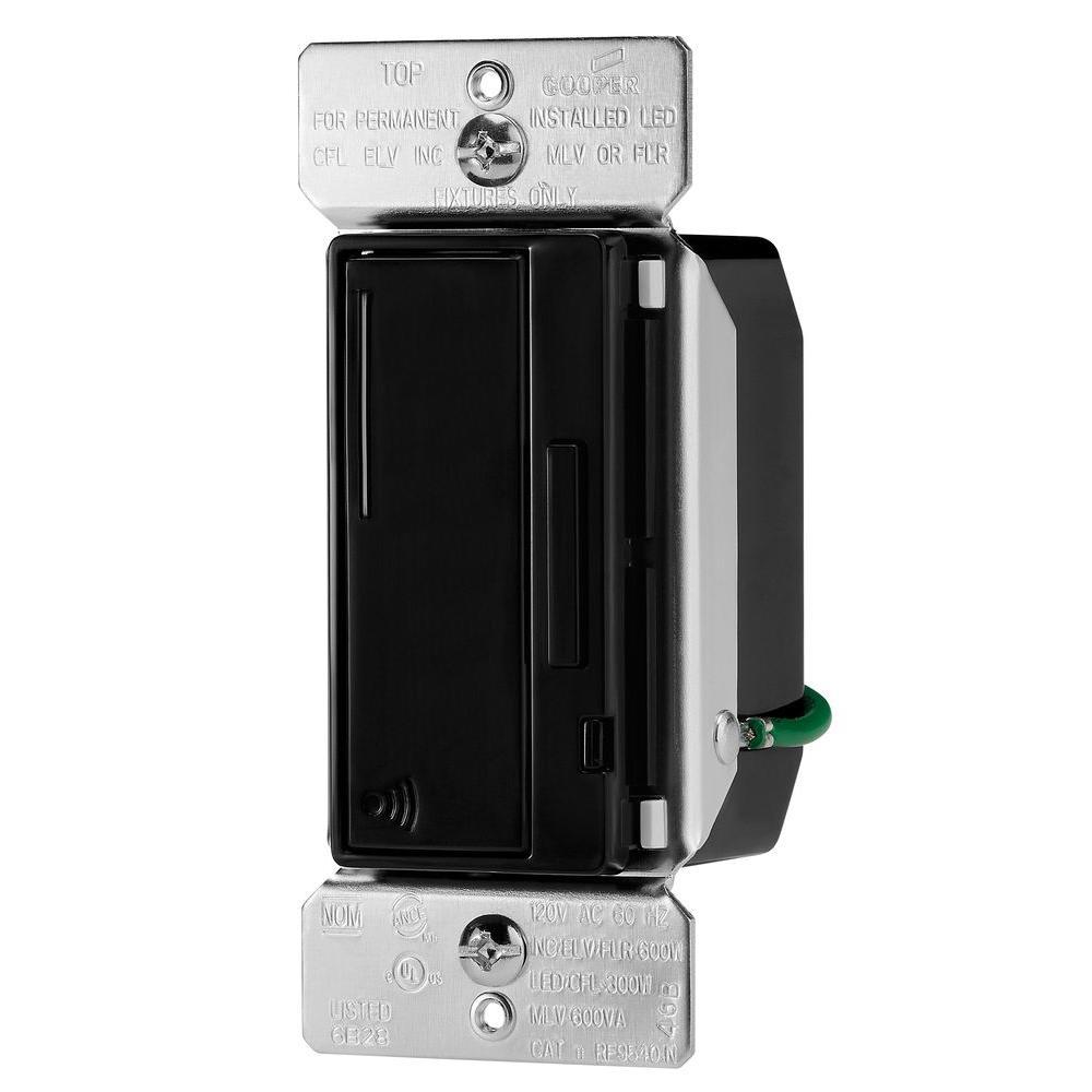 Aspire 300-Watt Dimmable LED/CFL RF Smart Dimmer, Black