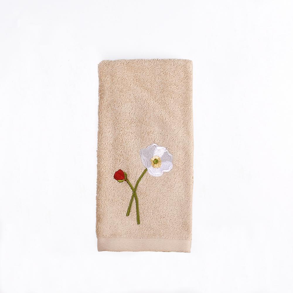 Saturday Knight Poppy Field Cotton Tip Towel in Amber