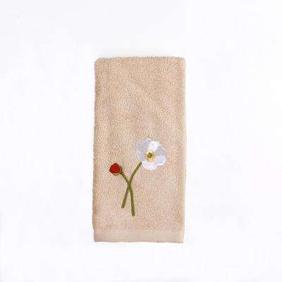 Poppy Field Cotton Tip Towel in Amber