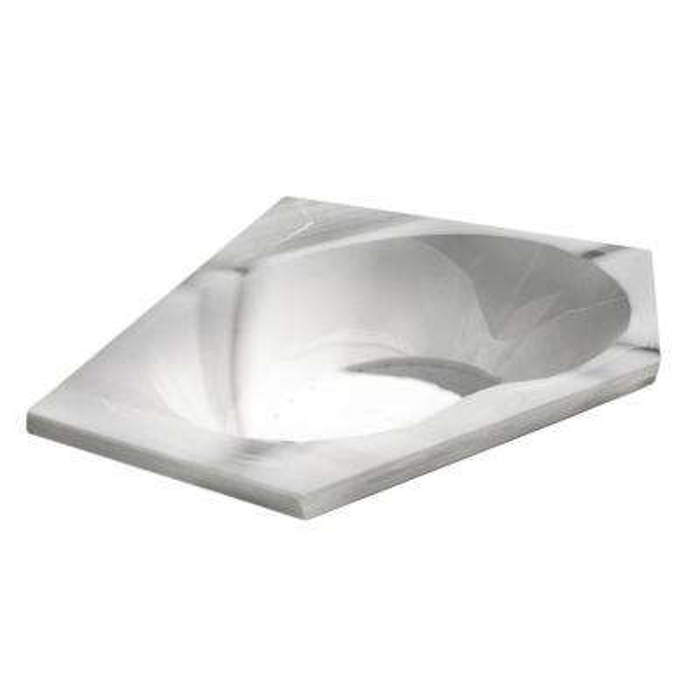 Quartz 5 ft. Acrylic Corner Drop-in Air Bathtub in White