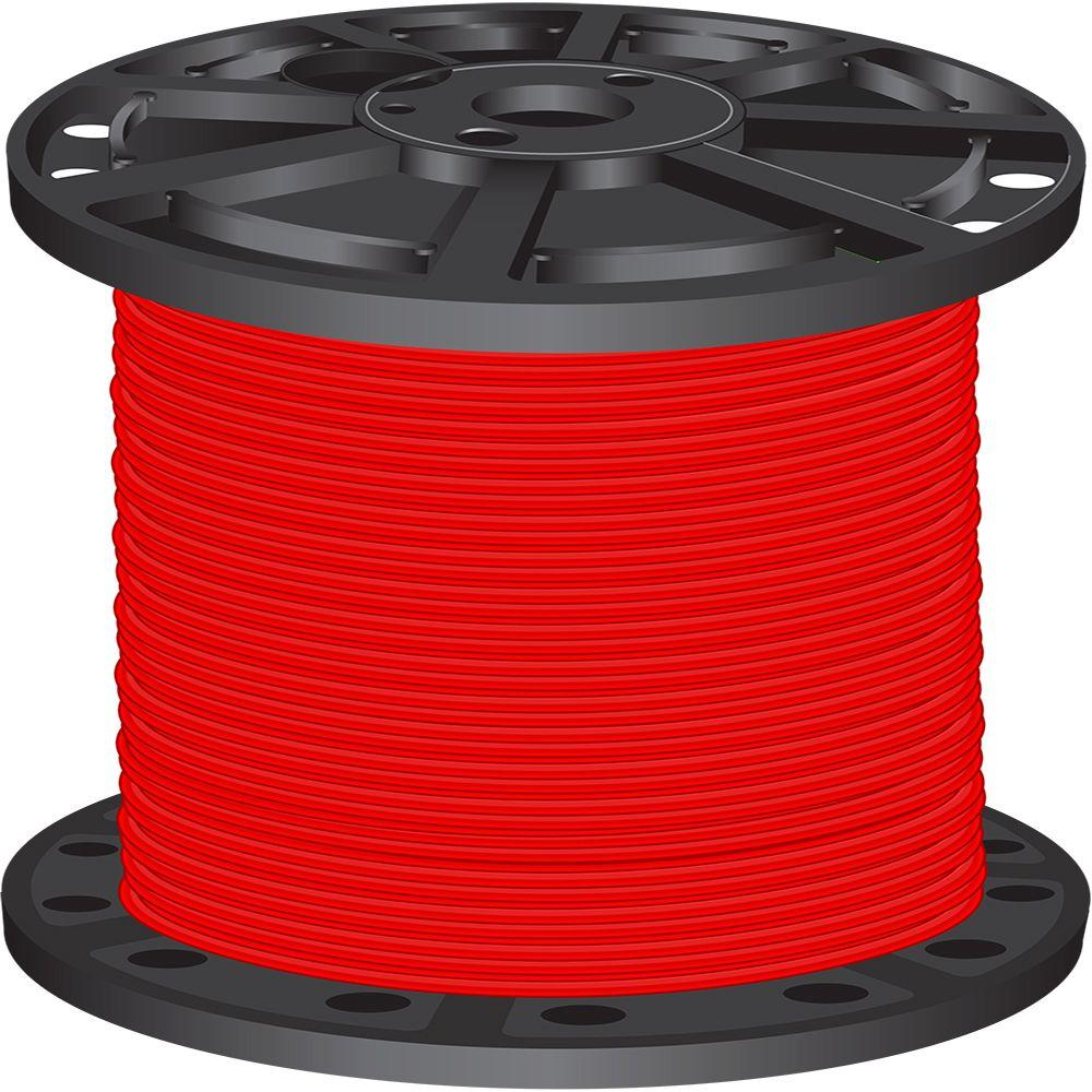 1,000 ft. 4 Red Stranded CU SIMpull THHN Wire