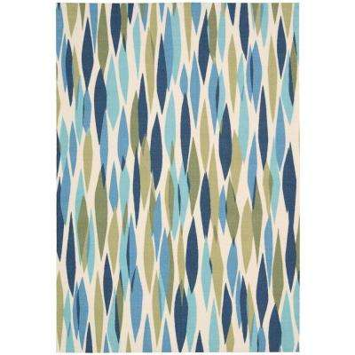 Bits and Pieces Seaglass 5 ft. x 7 ft. Area Rug